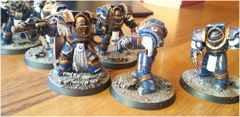 Sunwalker_89 / Catphracti Terminators from Betrayal at Calth box – My first miniatures ever